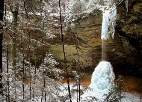 hocking hills winter